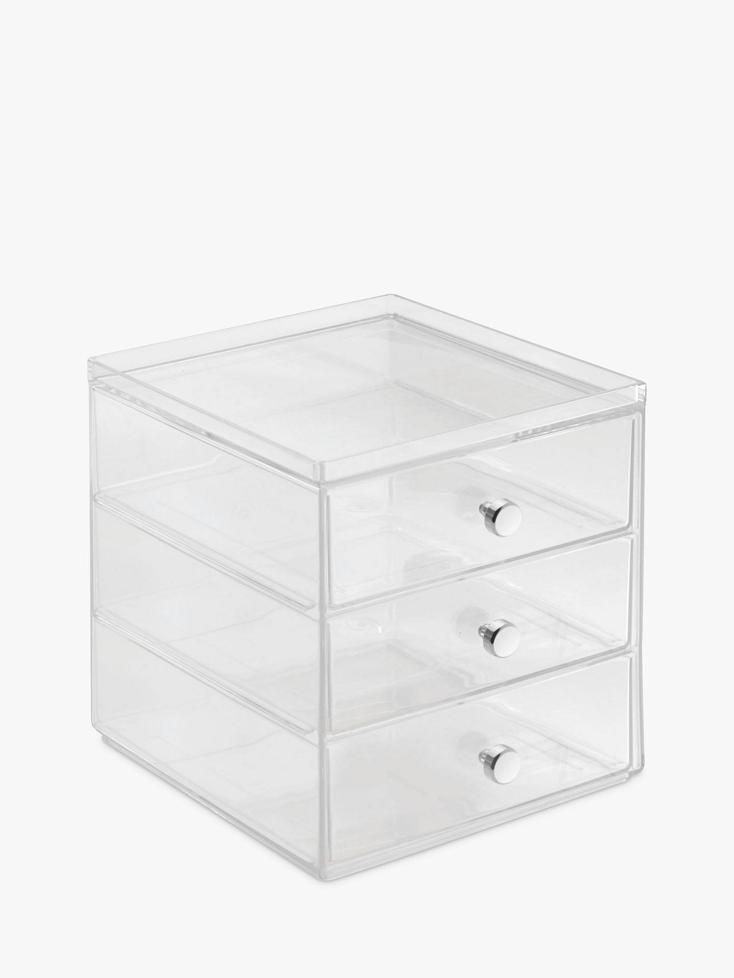 Plastic 3 Drawer Chest ~ Interdesign plastic storage chest drawer at john lewis