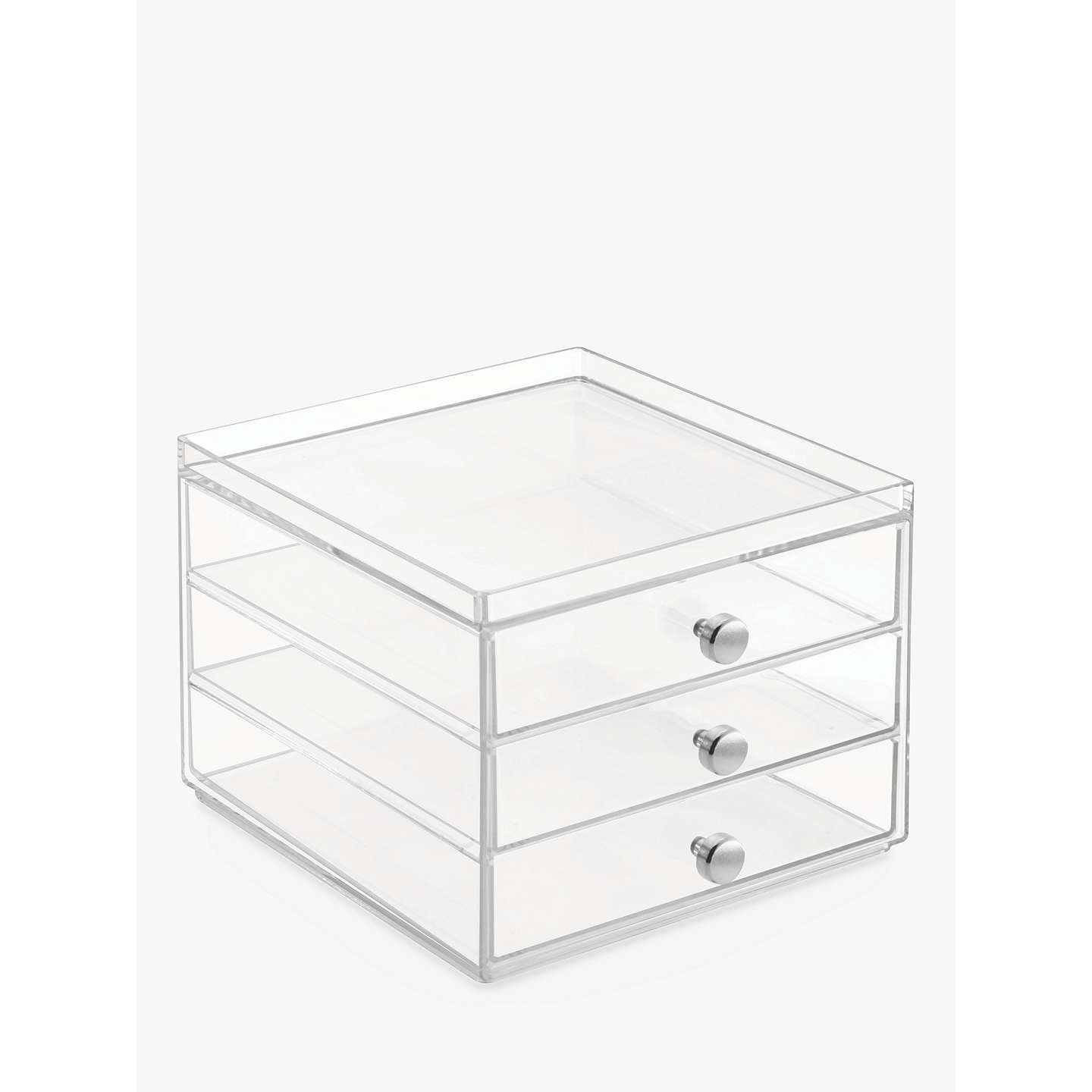BuyInterDesign Plastic Storage Chest, 3 Slim Drawer Online At Johnlewis.com  ...