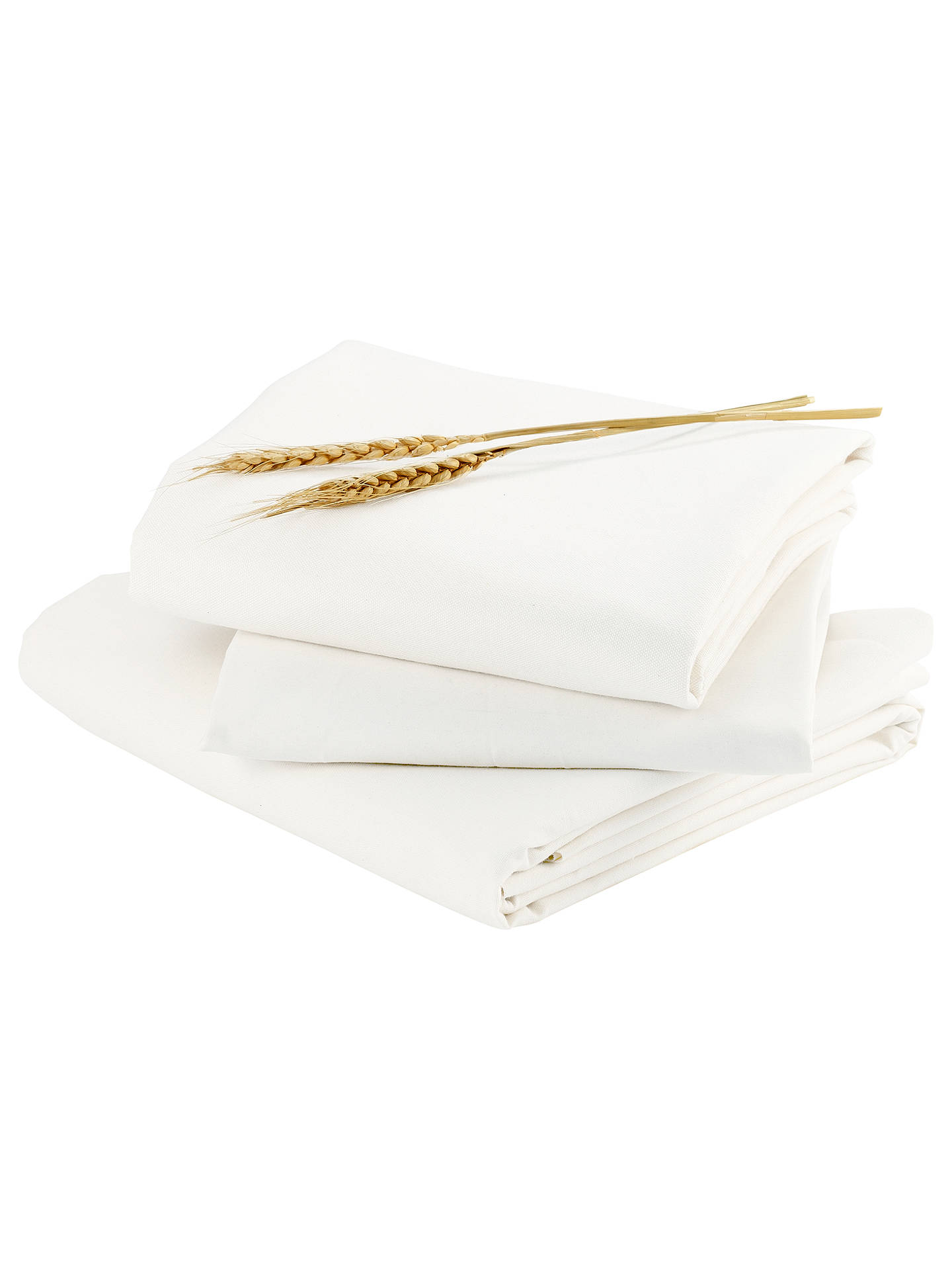 Buybloom Alma Papa Fitted Sheet, Pack of 2, White Online at johnlewis.com