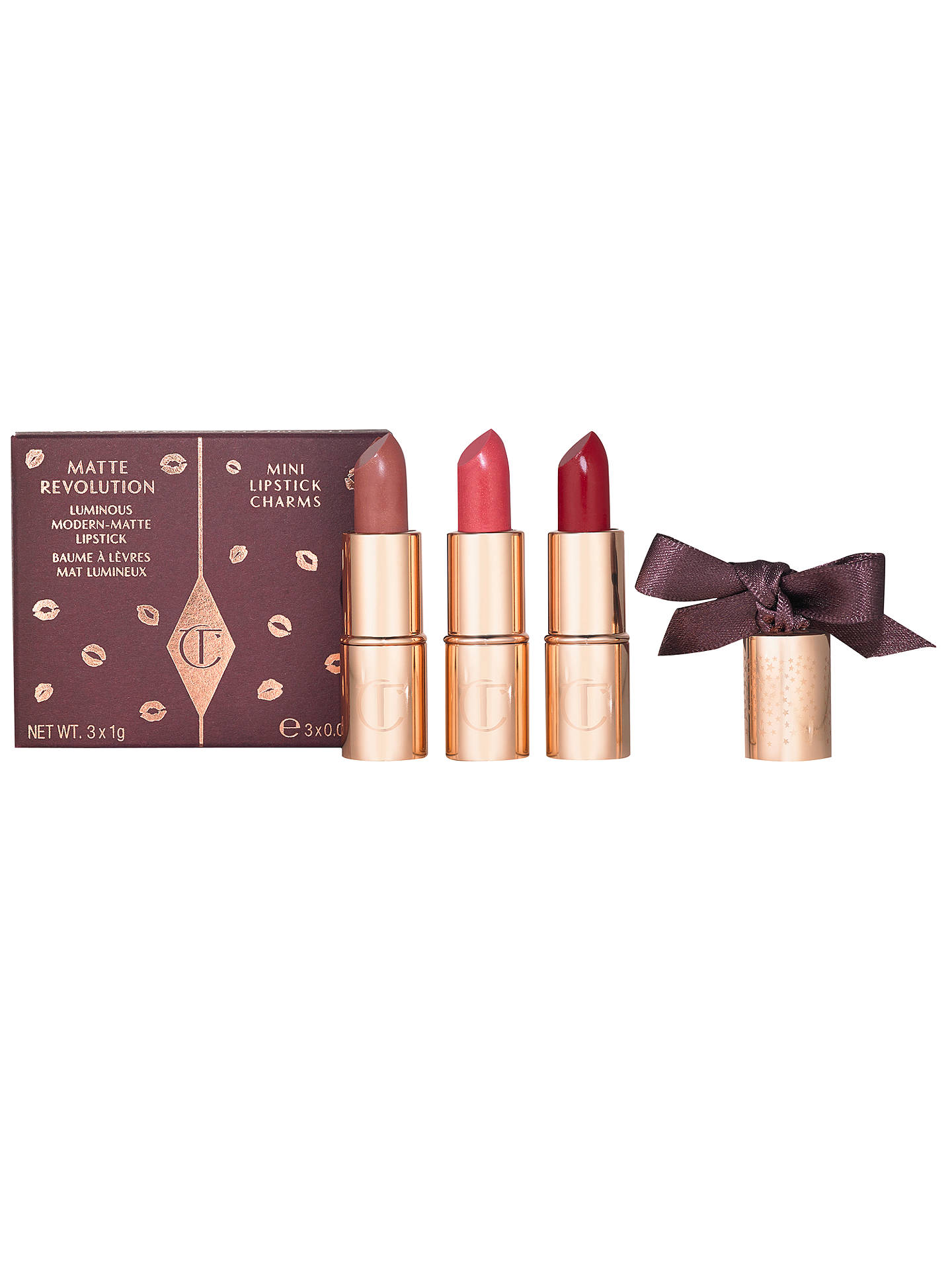 BuyCharlotte Tilbury Mini Lipstick Trio Makeup Gift Set Online at johnlewis.com