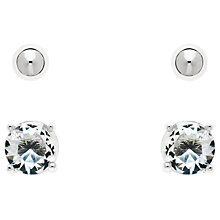 Buy Melissa Odabash Crystal Double Stud Earrings Online at johnlewis.com