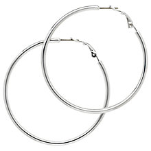 Buy Melissa Odabash Medium Hoop Earrings, Silver Online at johnlewis.com