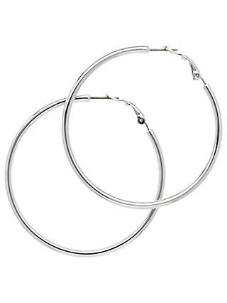 Melissa Odabash Medium Hoop Earrings Silver