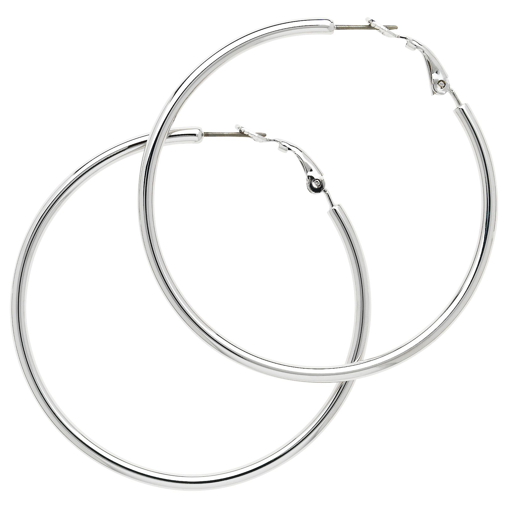 Melissa Odabash Melissa Odabash Medium Hoop Earrings, Silver