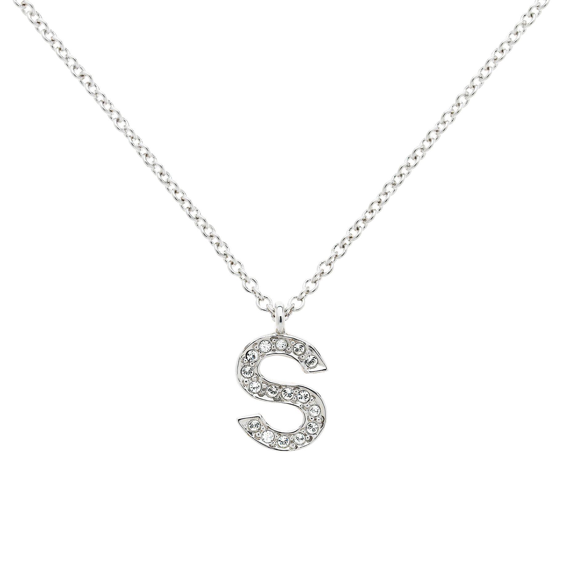 Melissa Odabash Melissa Odabash Swarovski Crystal Initial Pendant Necklace