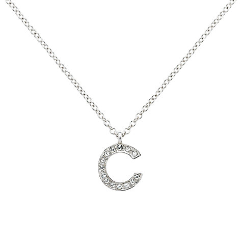 Buy Melissa Odabash Swarovski Crystal Initial Pendant Necklace Online at johnlewis.com