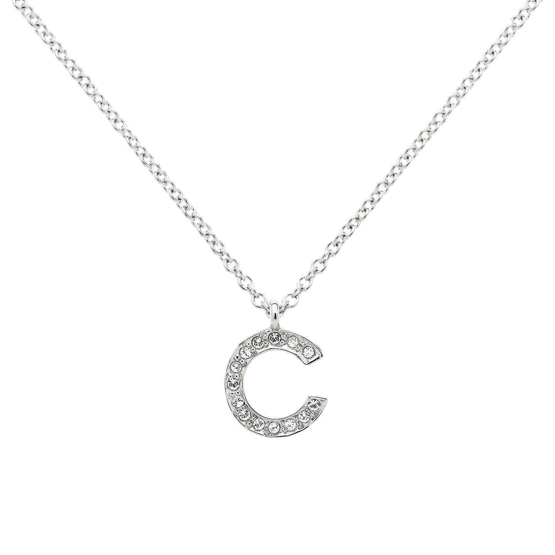 Melissa Odabash Swarovski Crystal Initial Pendant Necklace At John Lewis
