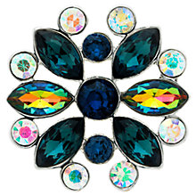 Buy Monet AB Navette and Round Cut Glass Crystal Brooch, Navy/Multi Online at johnlewis.com