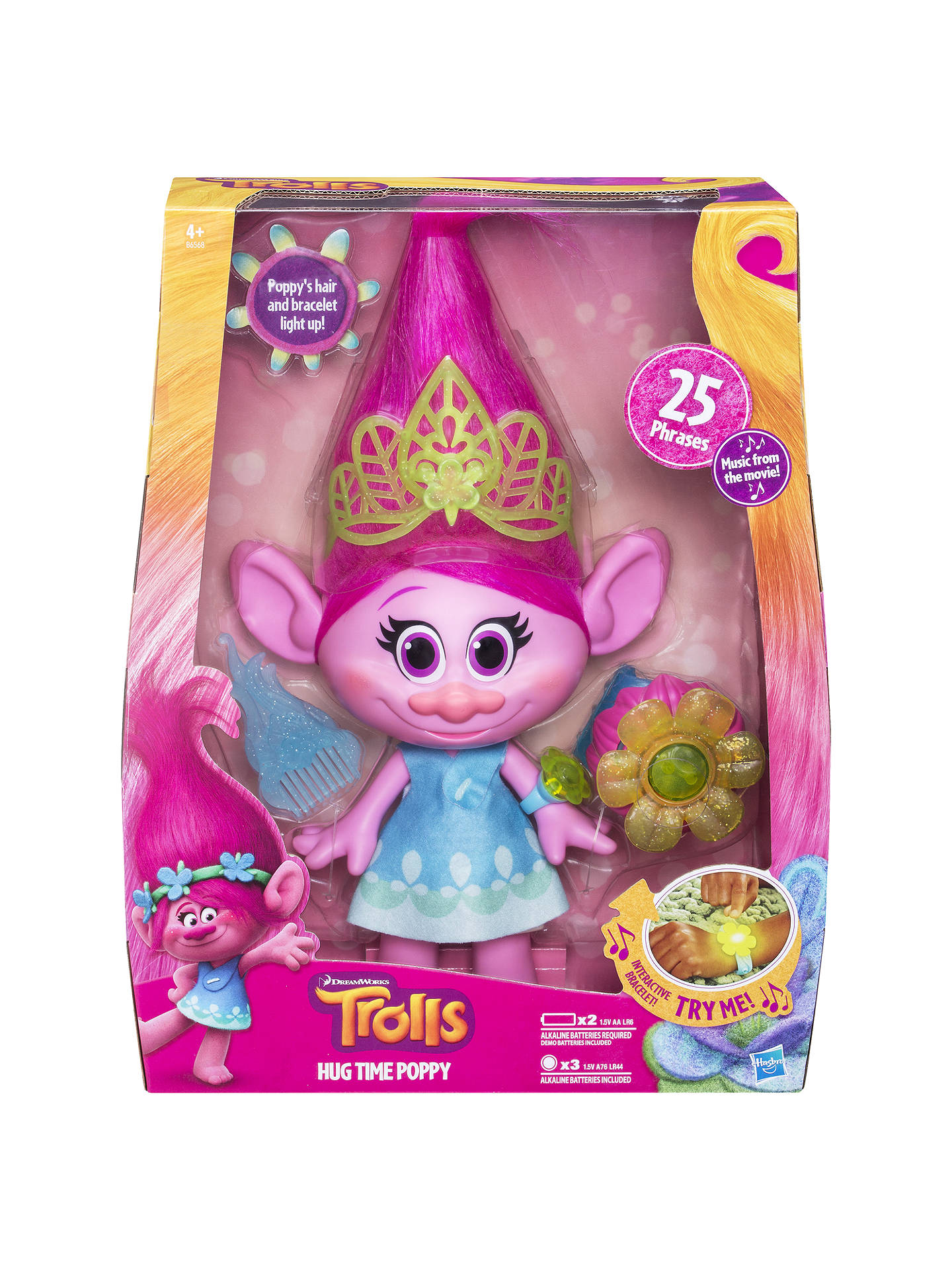 8975f49dfc0a Buy DreamWorks Trolls Hug Time Poppy Online at johnlewis.com ...