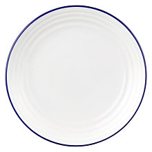 Buy John Lewis 27.5cm Tapas Plate, White / Blue Online at johnlewis.com