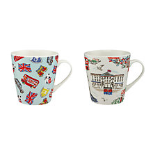 Buy Cath Kidston 'London Town' Mini Stanley Mugs, Set of 2 Online at johnlewis.com
