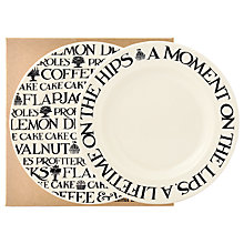 Buy Emma Bridgewater Black Toast Plate, Set of 2, Black/White, Dia.16.5cm Online at johnlewis.com