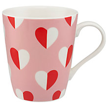 Buy Cath Kidston Stanley 'Mono Hearts' Mug Online at johnlewis.com