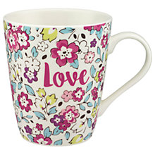 Buy Cath Kidston Pretty Pansies Stanley Mug Online at johnlewis.com