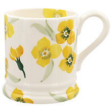 Buy Emma Bridgewater Wallflower Half Pint Mug, Yellow, 284ml Online at johnlewis.com