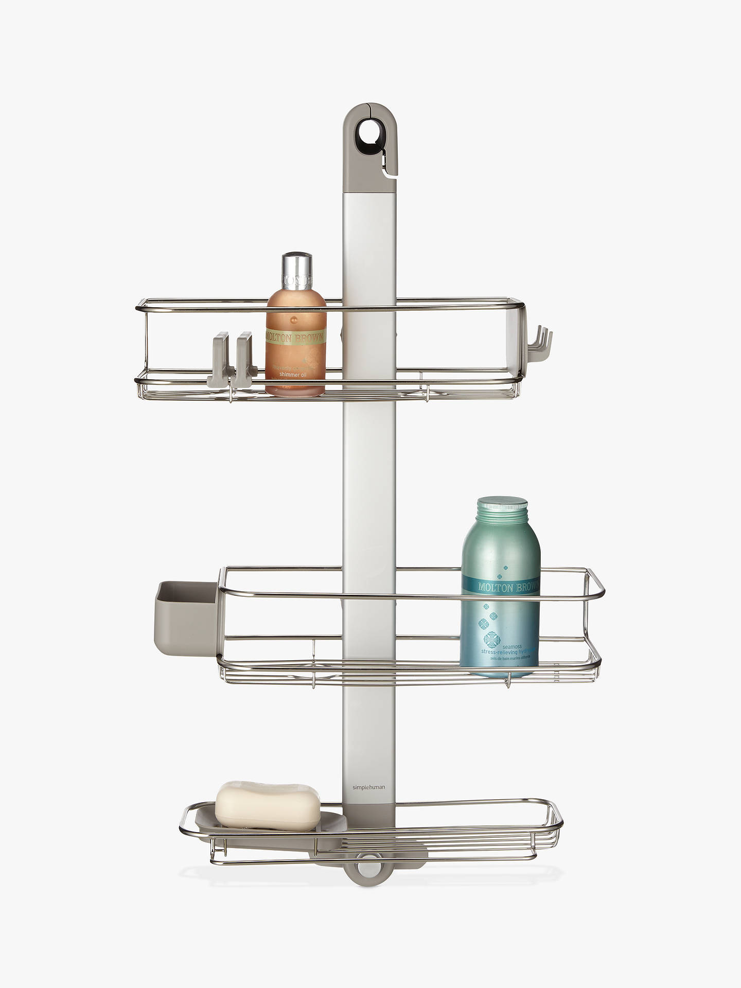 simplehuman Adjustable Hanging Shower Basket at John Lewis & Partners