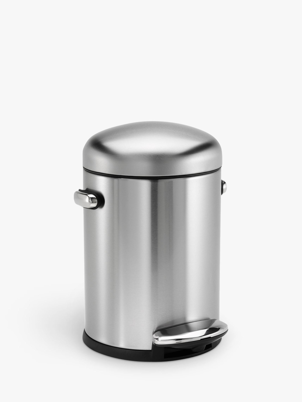 Simplehuman simplehuman Retro Bathroom Pedal Bin, 4.5L