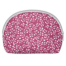 Buy John Lewis Arley Half Moon Wash Bag, Dahlia Online at johnlewis.com