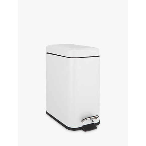 white bathroom bin buy lewis rectangular soft bathroom bin white 15048