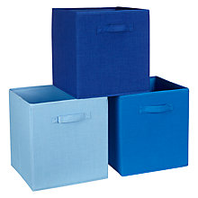 Buy House By John Lewis Polyester Storage Boxes, Set of 3 Online at johnlewis.com