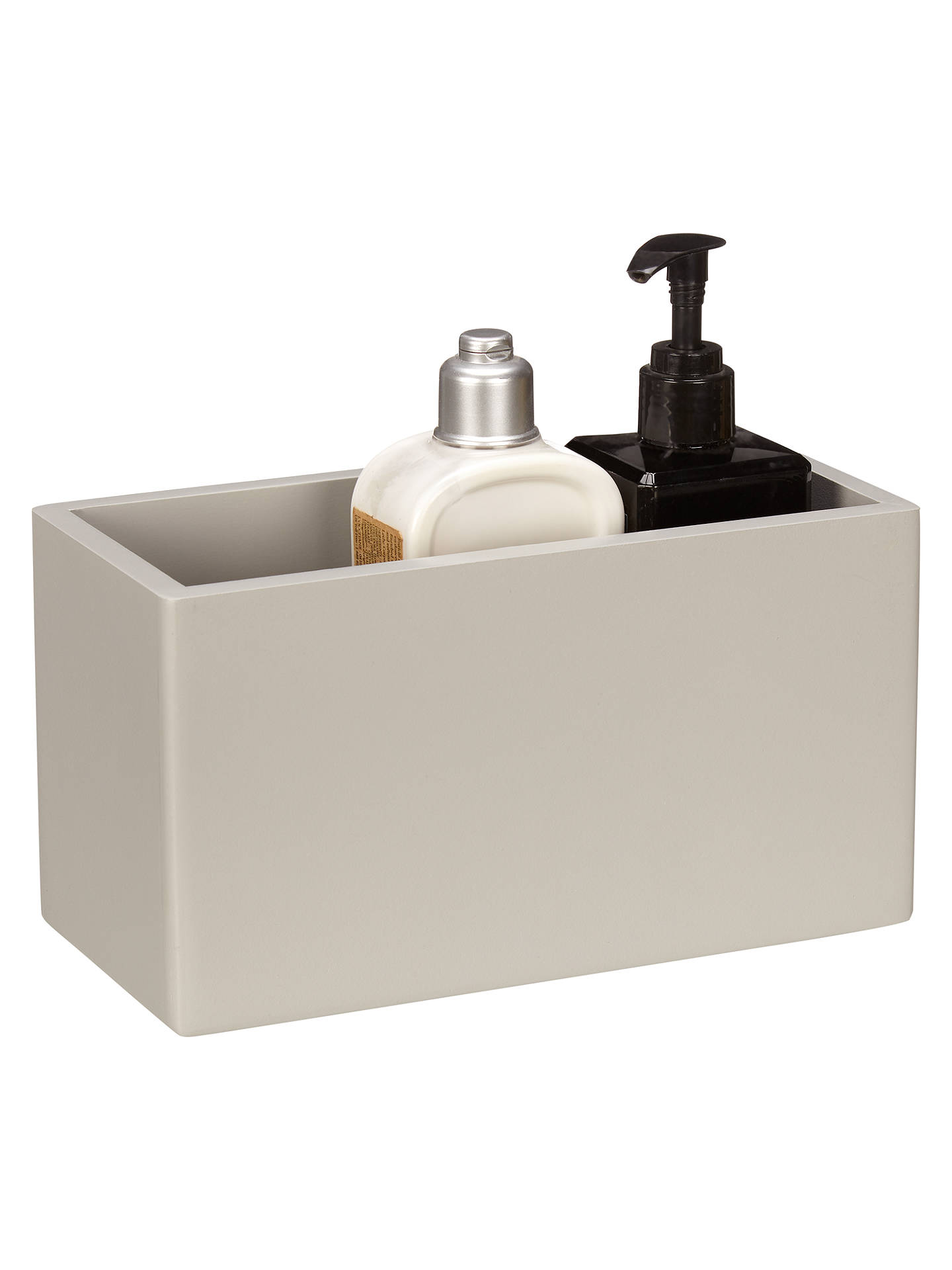 House by John Lewis Bathroom Storage Box, Small, Grey at ...