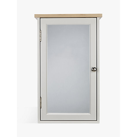 Delightful Buy John Lewis Croft Collection Blakeney Single Mirrored Bathroom Cabinet.  Light Silver Online At Johnlewis