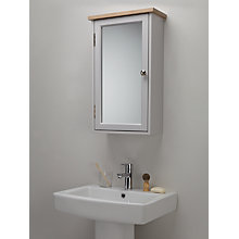 Buy John Lewis Croft Collection Blakeney Single Mirrored Bathroom Cabinet. Light Silver Online at johnlewis.com