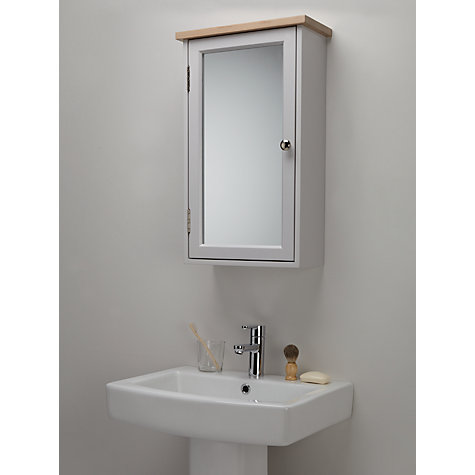 ... Buy John Lewis Croft Collection Blakeney Single Mirrored Bathroom  Cabinet. Light Silver Online At Johnlewis ...