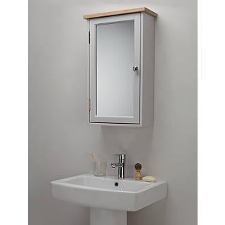 Bathroom cabinets bathroom vanities john lewis croft collection blakeney single mirrored bathroom cabinet light silver aloadofball Images