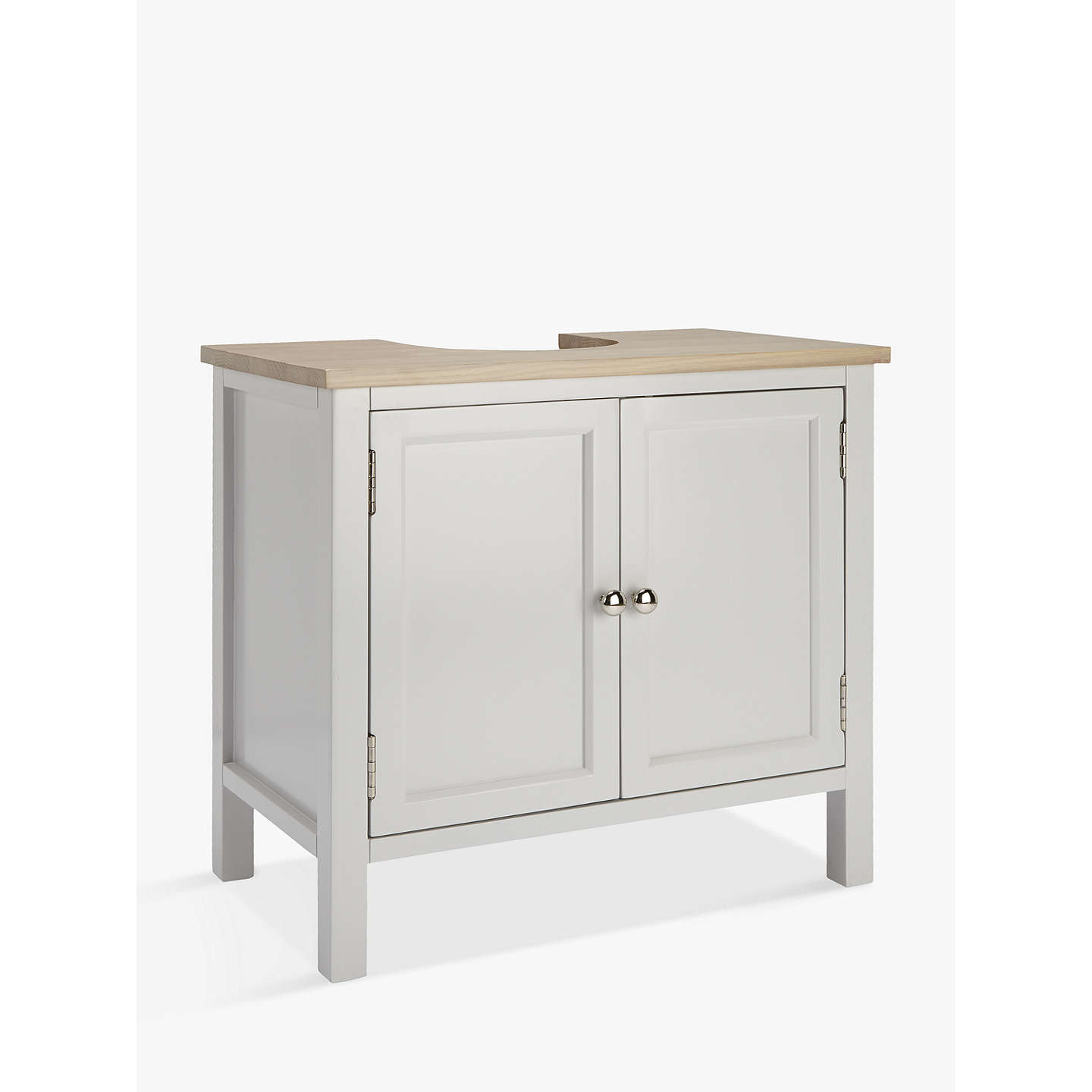 Free Standing Kitchen Cabinets John Lewis: Croft Collection Blakeney Under Sink Unit, Light Silver At