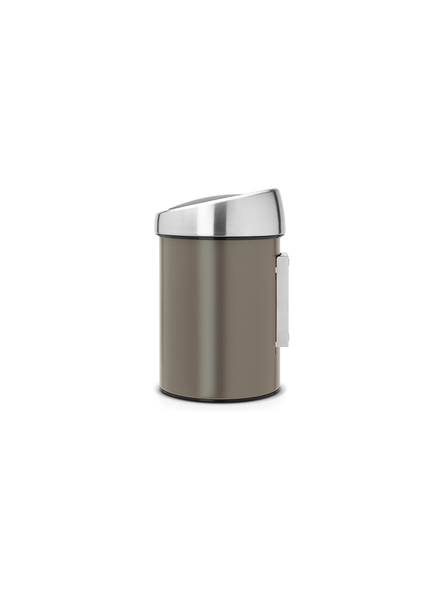 Brabantia Touch Bin 50 Liter Platinum.Brabantia Touch Bin Platinum 3l At John Lewis Partners
