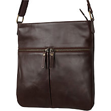 Buy Fat Face Alice Double Zip Cross Body, Peat Online at johnlewis.com