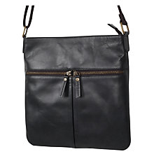 Buy Fat Face Alice Double Zip Cross Body Bag, Black Online at johnlewis.com