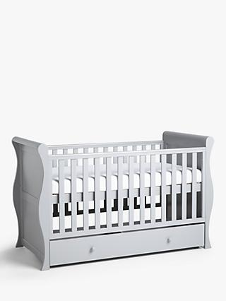John Lewis & Partners Martha Sleigh Cotbed, Grey