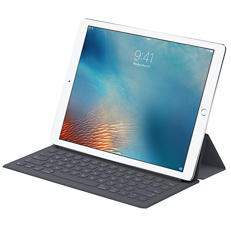 buy apple smart keyboard for 12 9 ipad pro grey john lewis. Black Bedroom Furniture Sets. Home Design Ideas