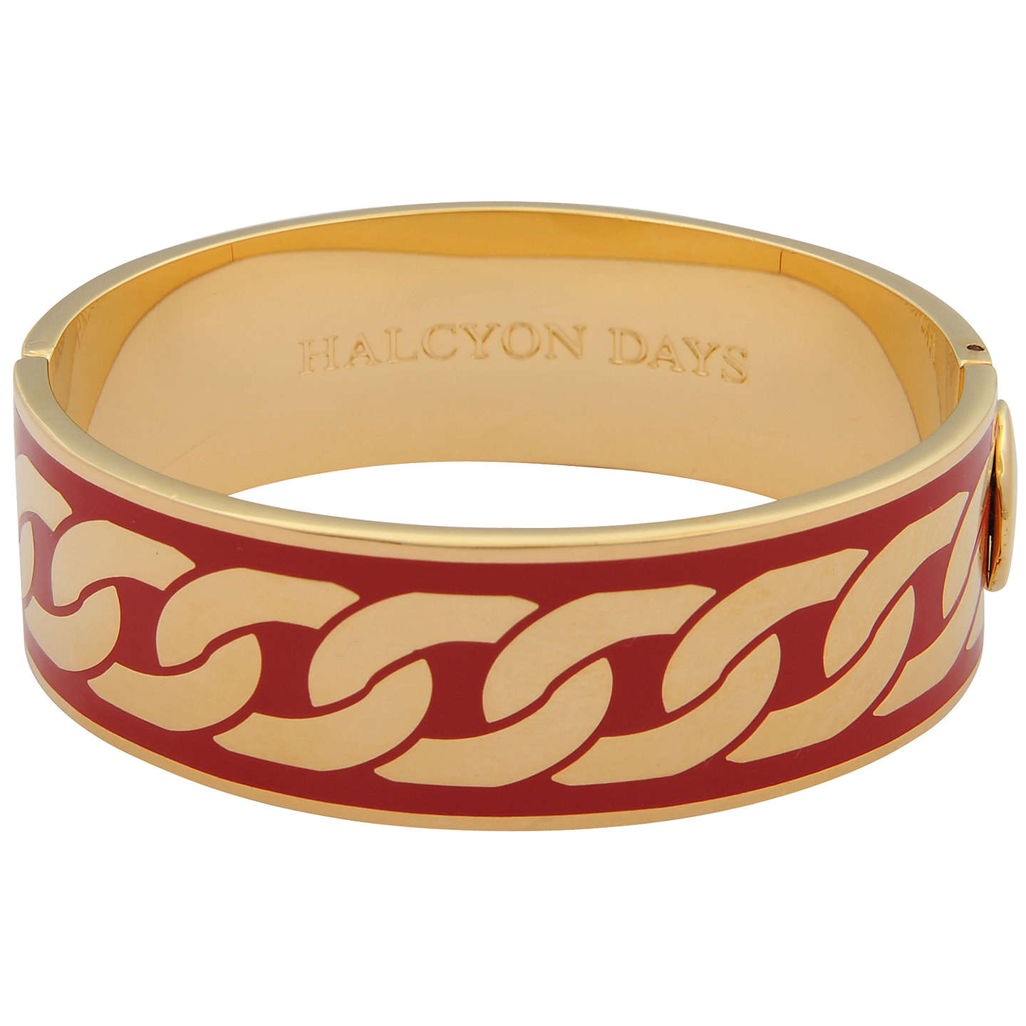 BuyHalcyon Days Curb Chain Hinge Bangle, Red/Gold Online at johnlewis.com