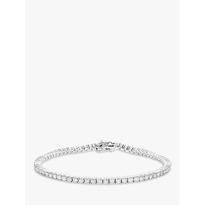 Mogul 18ct White Gold Diamond Tennis Bracelet, 2ct