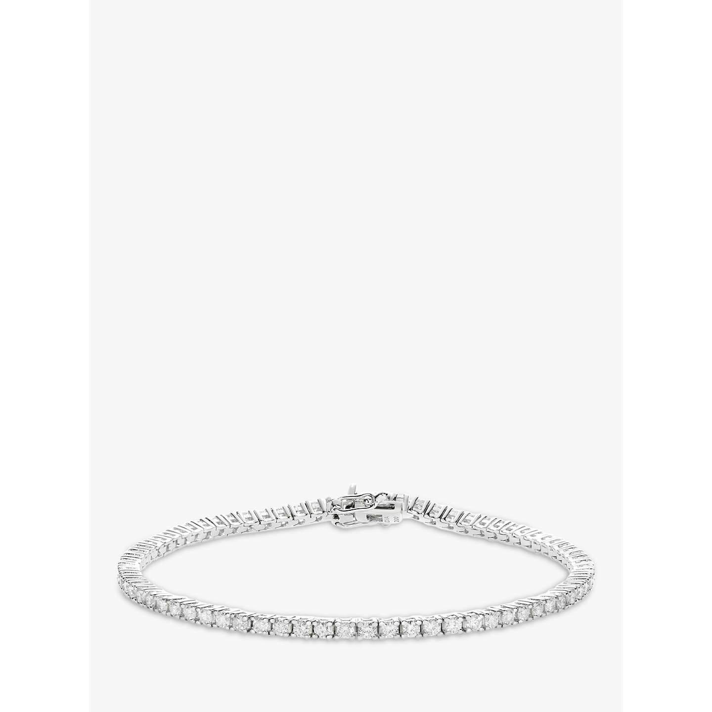BuyMogul 18ct White Gold Diamond Tennis Bracelet, 2ct Online at johnlewis.com