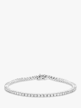 Mogul 18ct White Gold Diamond Tennis Bracelet, 2ct