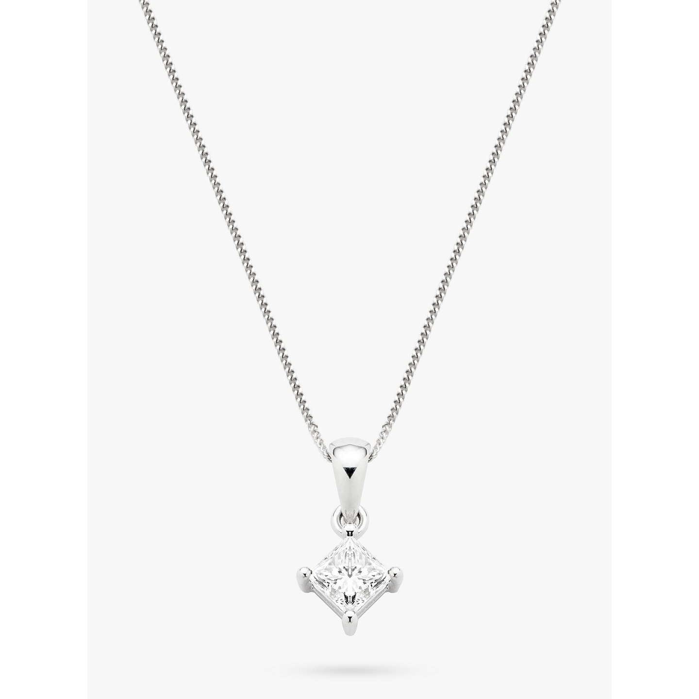pendant in diamond gold solitaire products white princess bail cut mirabess pendent double