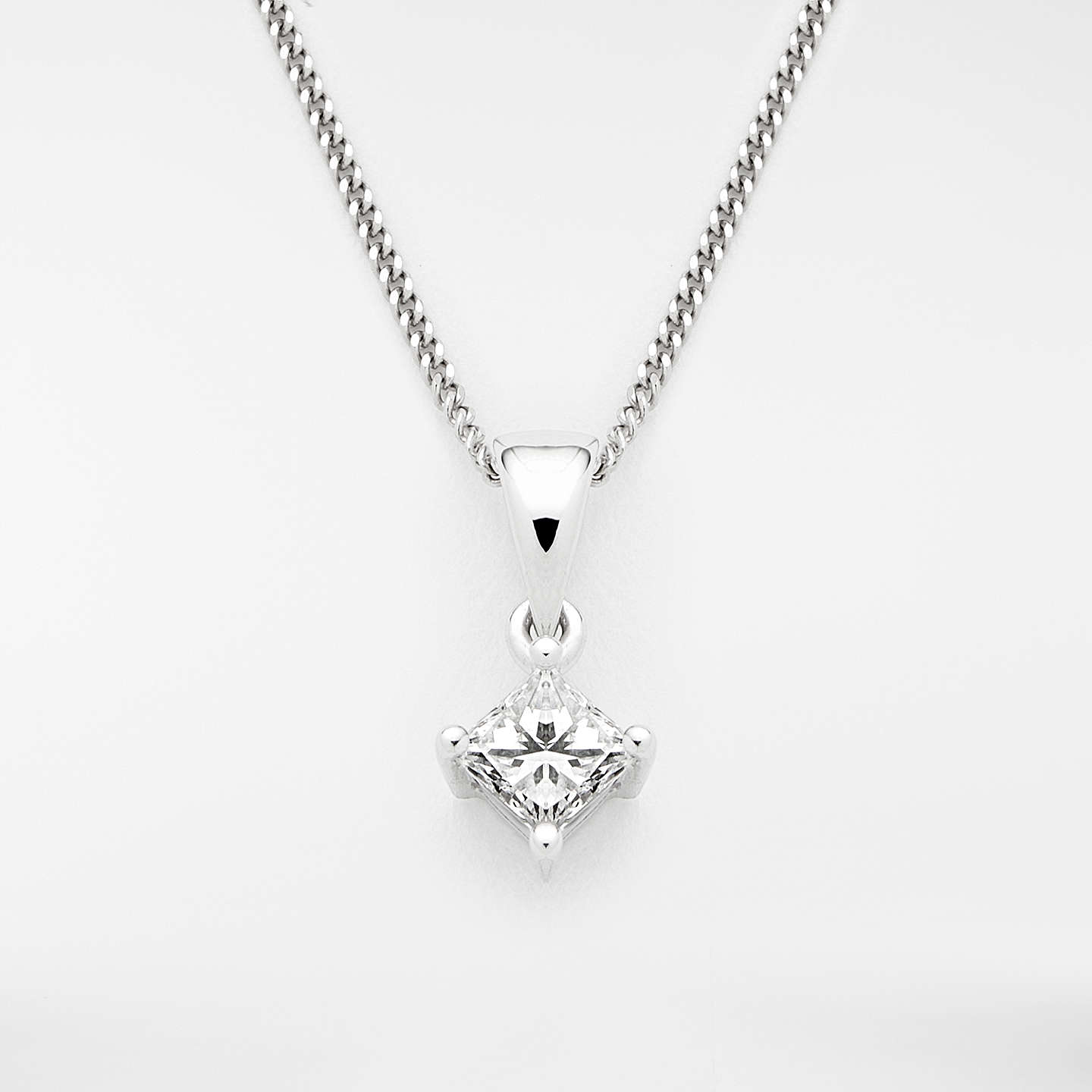 with in products finished pendant princess halo pure platinum necklace cut crislu