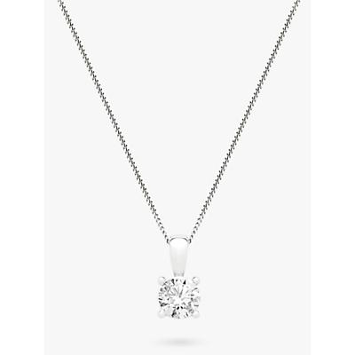 Image of Mogul 18ct White Gold Round Brilliant Solitaire Diamond Pendant Necklace, 0.75ct