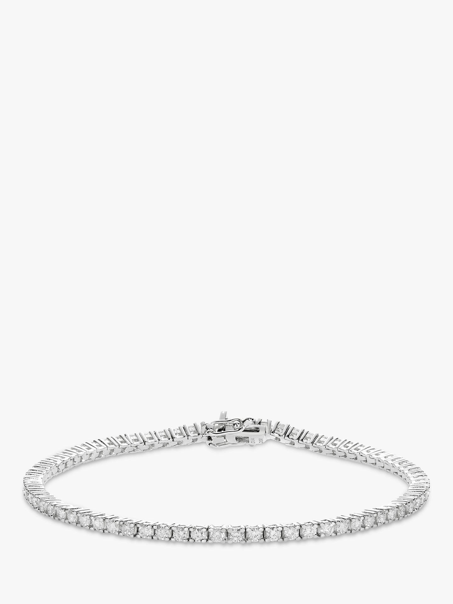 Mogul 18ct White Gold Diamond Tennis Bracelet 1ct At John