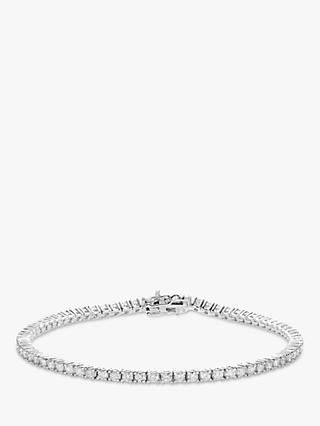 Mogul 18ct White Gold Diamond Tennis Bracelet, 1ct