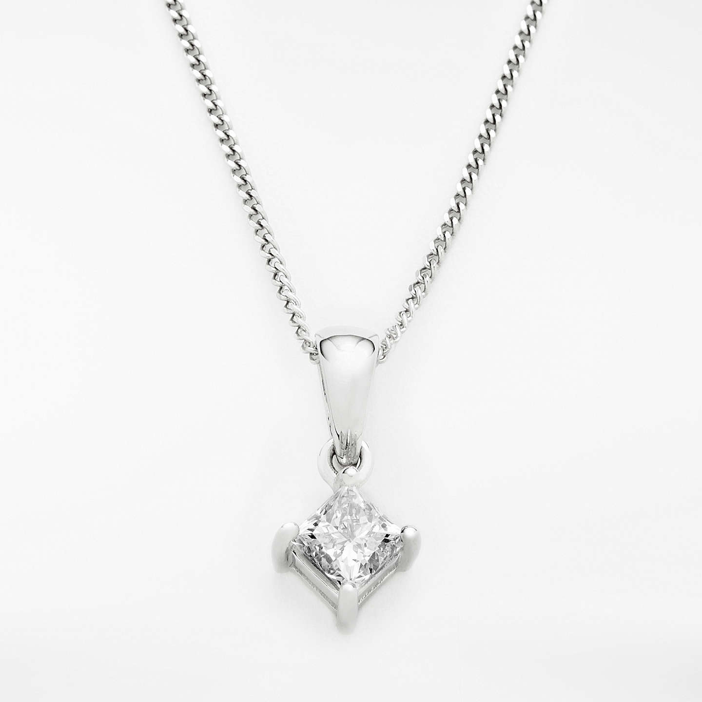 jewelry princess beautiful diamondland cut jewellery diamond pear necklace