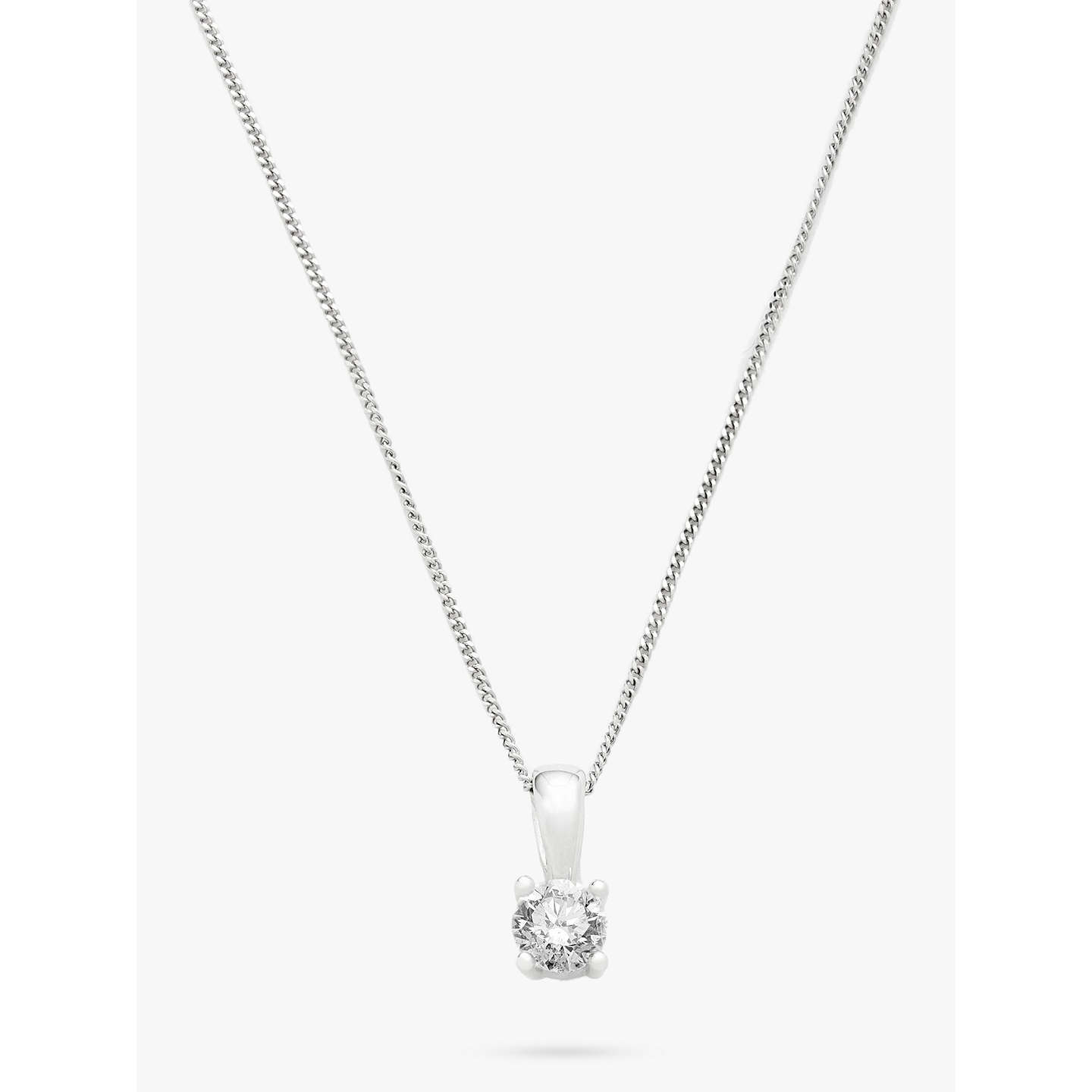 Mogul 18ct white gold round brilliant solitaire diamond pendant buymogul 18ct white gold round brilliant solitaire diamond pendant necklace 05ct online at johnlewis aloadofball Image collections