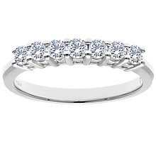 Buy Diamond Collection 18ct White Gold Round Brilliant Diamond Eternity Ring, 0.75ct Online at johnlewis.com