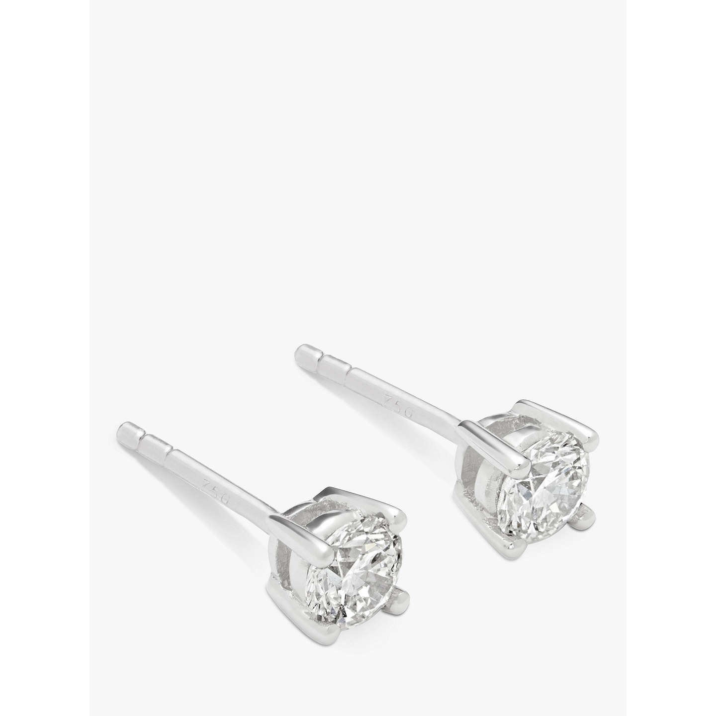 earrings white products baguette diamond atkinsons round gold stud