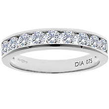 Buy Diamond Collection 18ct White Gold Round Brilliant Channel Set Diamond Eternity Ring, 0.75ct Online at johnlewis.com