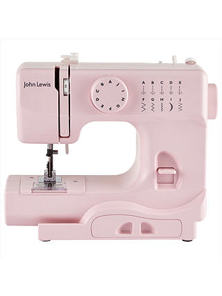 Buy John Lewis Mini Sewing Machine, Dusty Pink Online at johnlewis.com